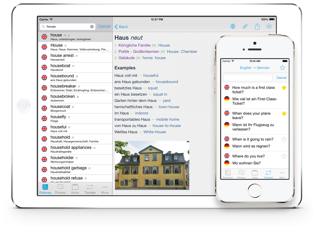 Die best german to english dictionary app for iphone offline