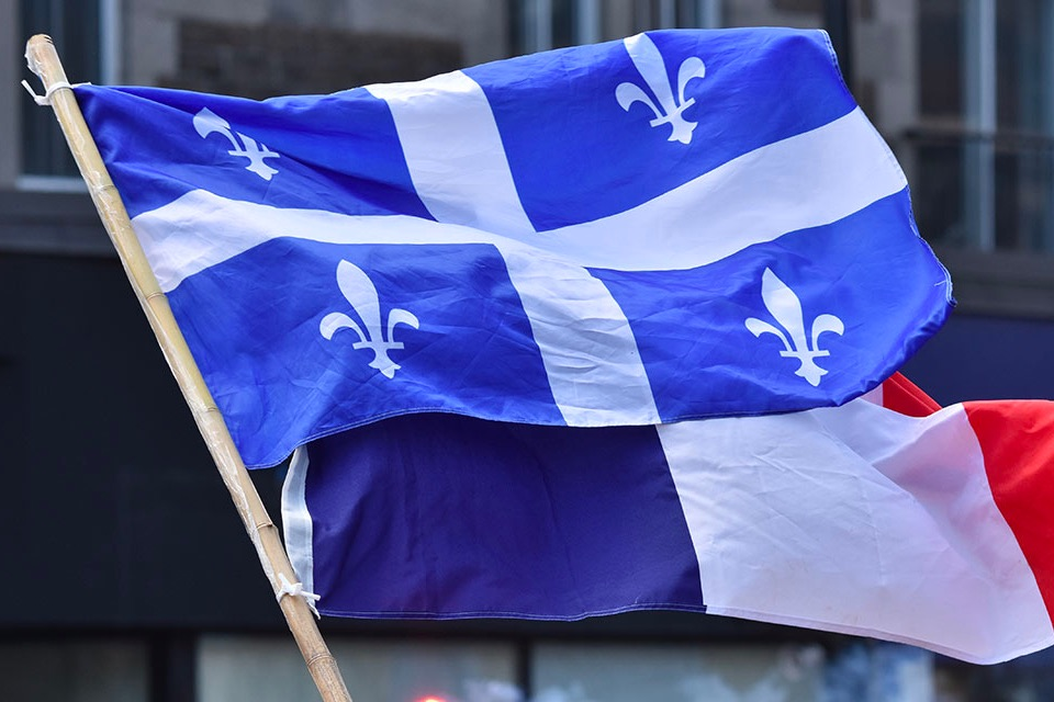 Quebec France Flags