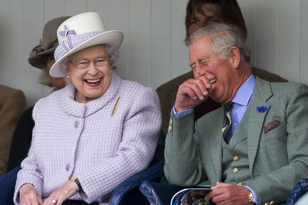 queen laughing