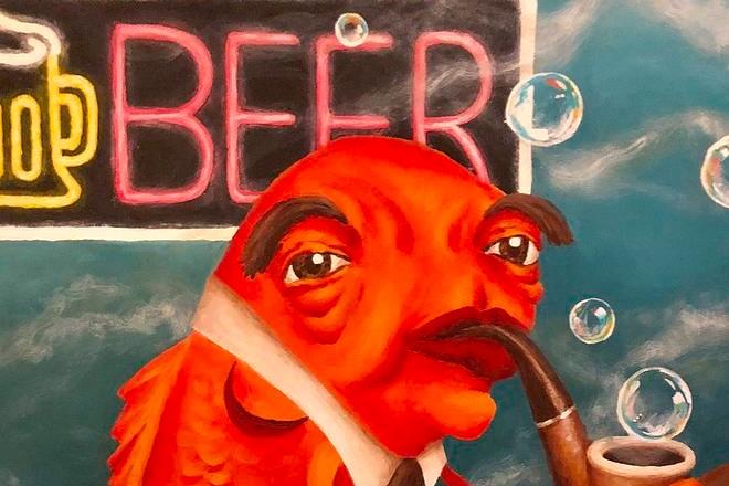 fish at a bar