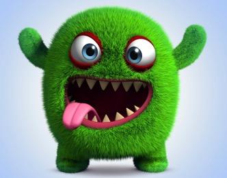 furry green monster