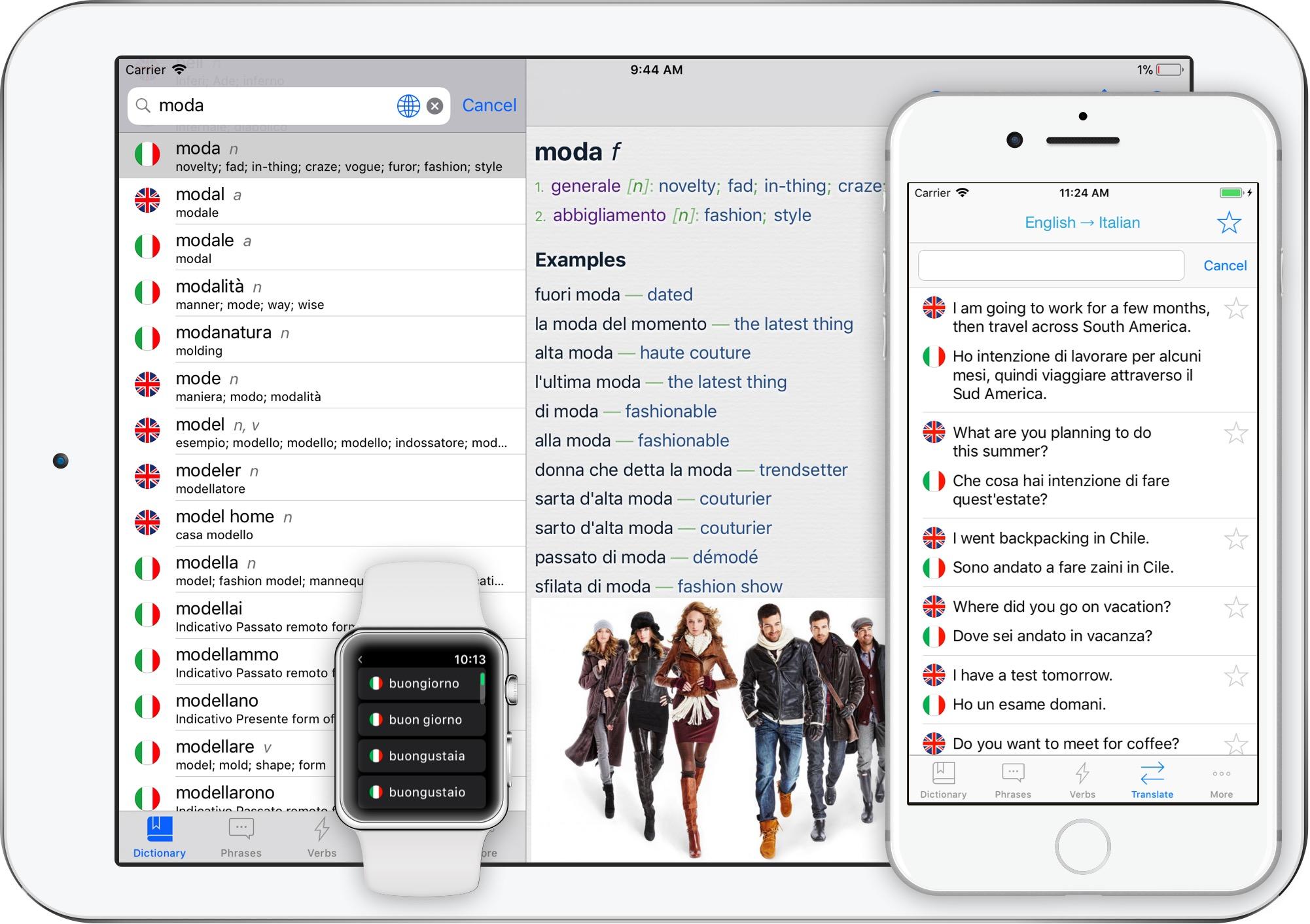 English To Italian Translator Google: Italian Translator + For IPhone, IPad, Apple Watch