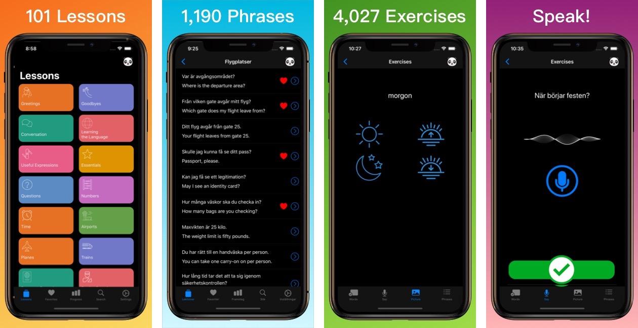Learn Swedish App iPhone