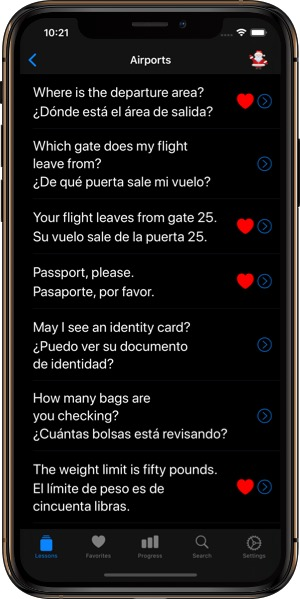 Spanish Phrases iPhone