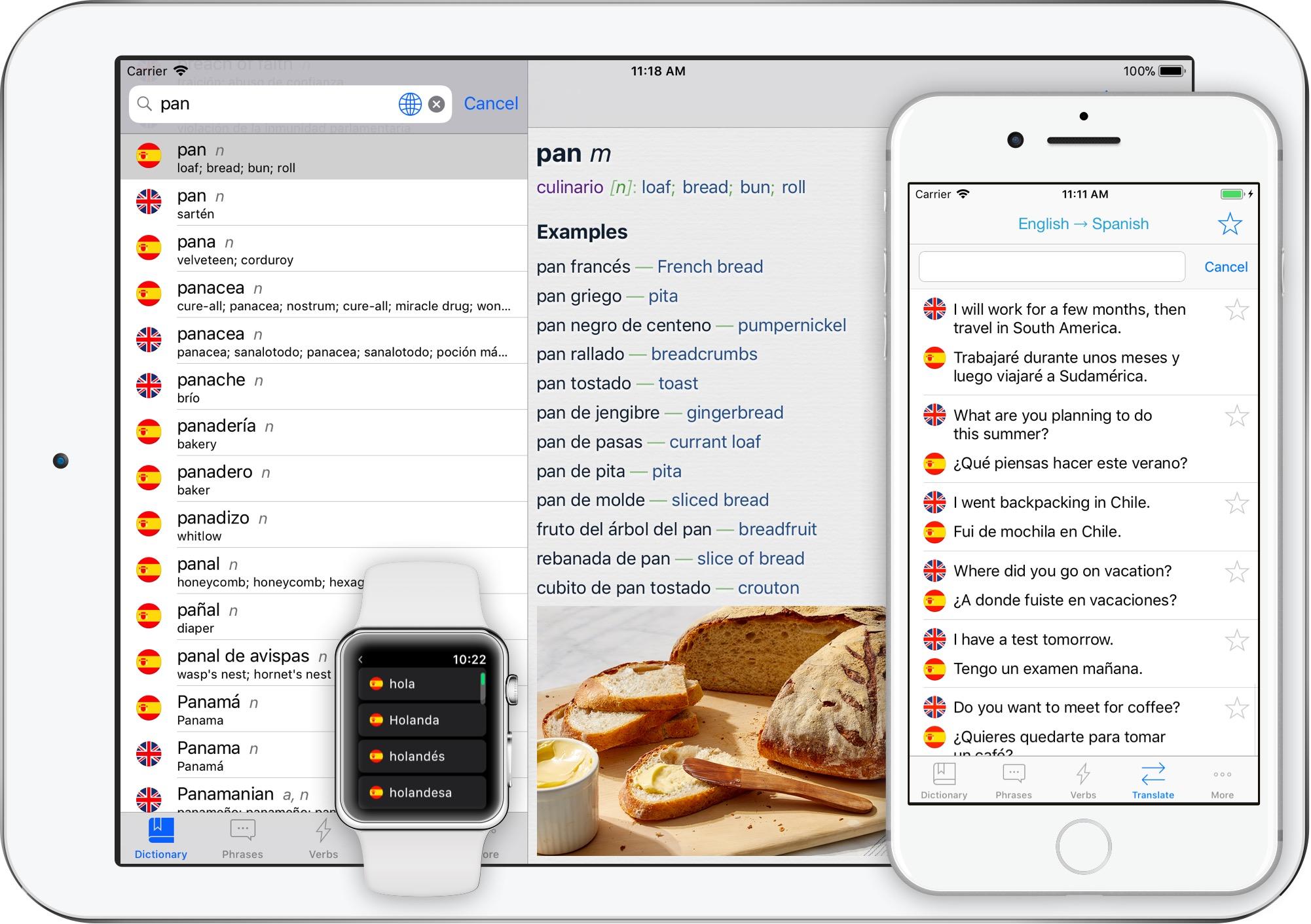 Spanish Translator + for iPhone, iPad, Apple Watch | Best