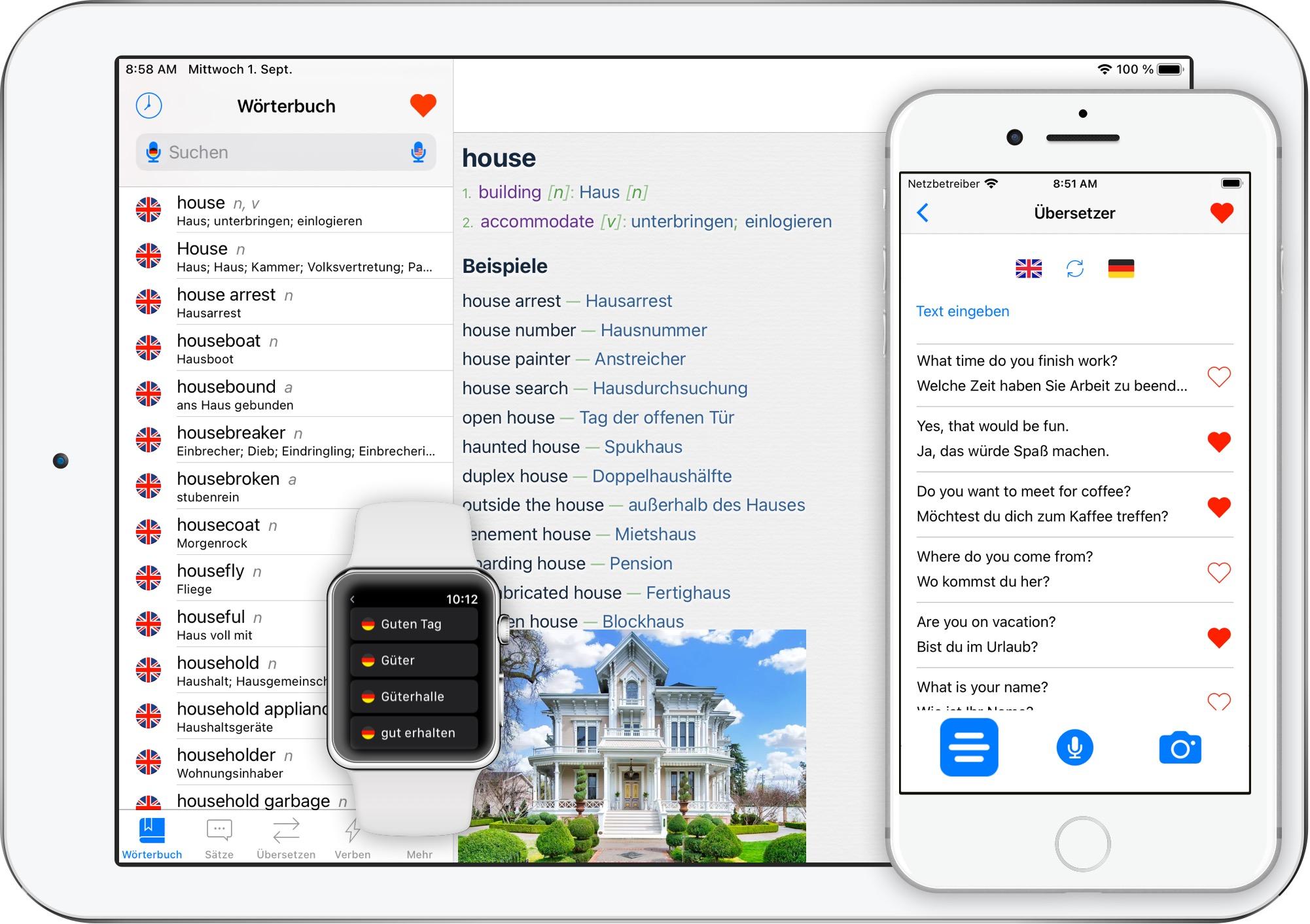 Englisch-Übersetzer-App für iPhone iPad Apple Watch