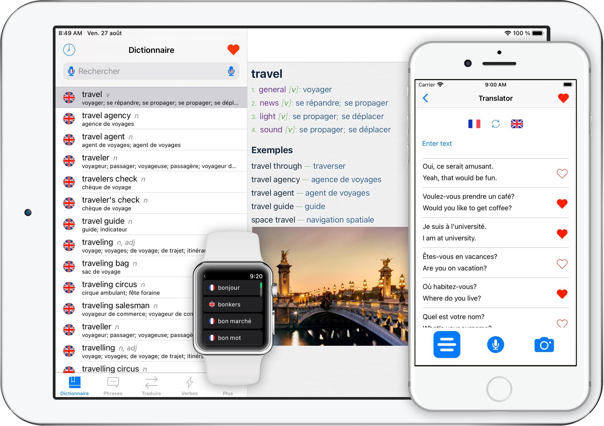 Traducteur Anglais Français app sur iPhone